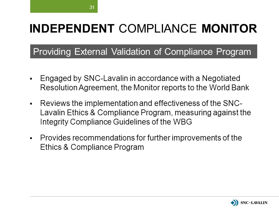 Independent Compliance Monitor