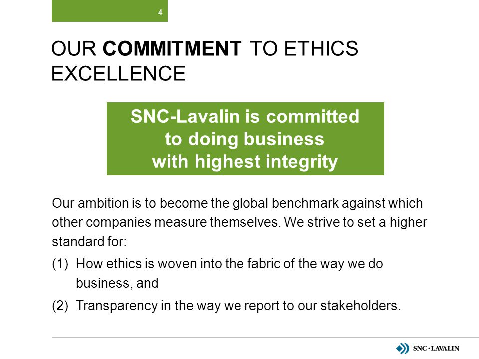 Our Commitment to Ethics Excellence