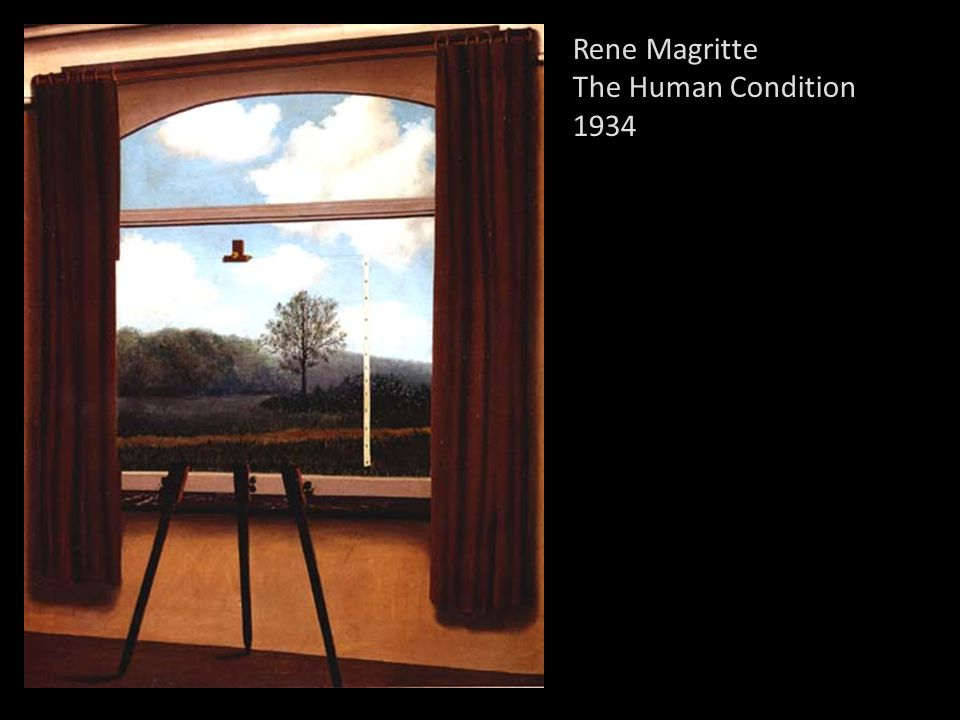 24 Rene Magritte The Human Condition 1934  sc 1 st  SlidePlayer : magritte door - pezcame.com