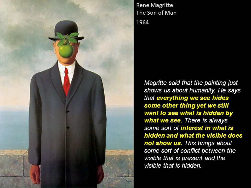 Rene Magritte The Son of Man. 1964.
