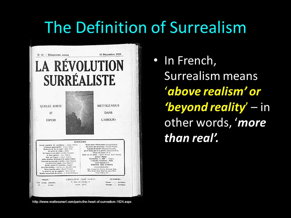 The Definition of Surrealism