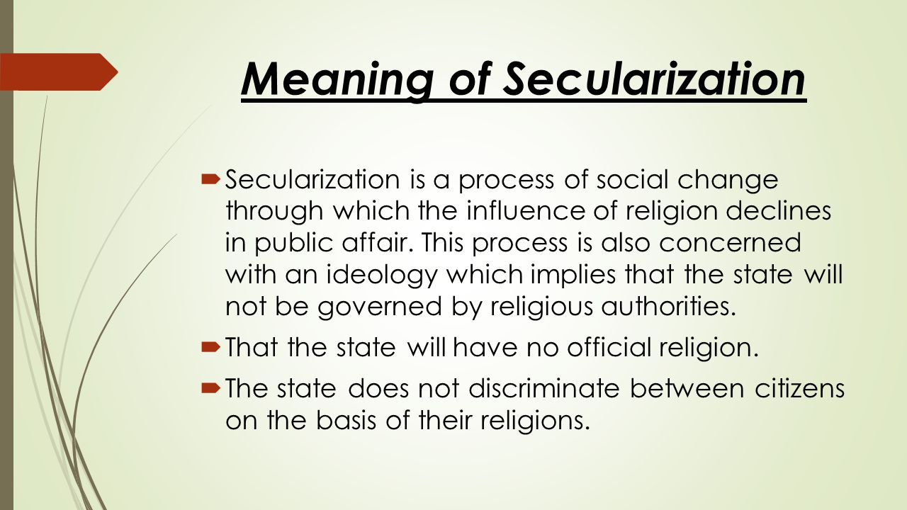 Meaning of Secularization
