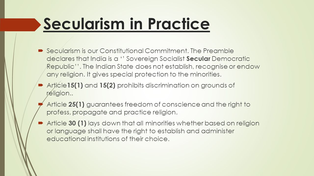 Secularism in Practice