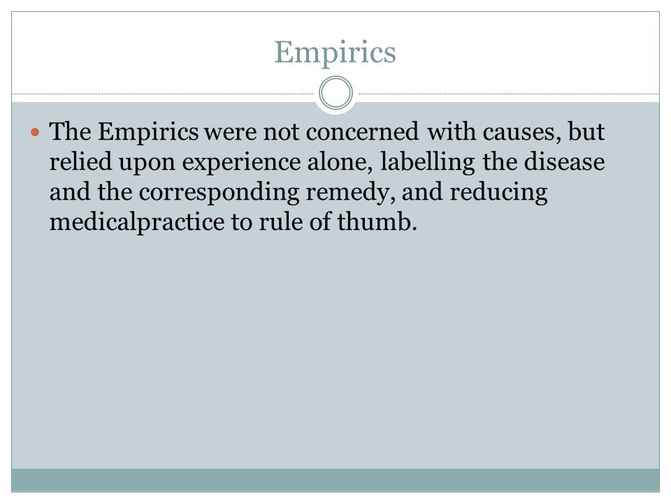 Empirics