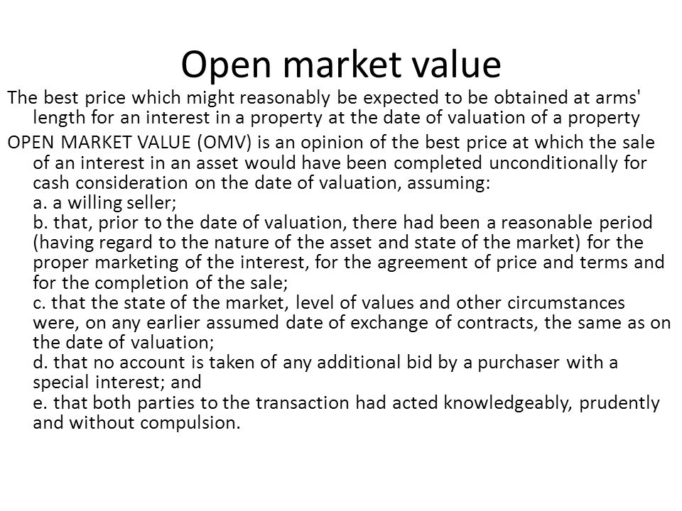 Open market value