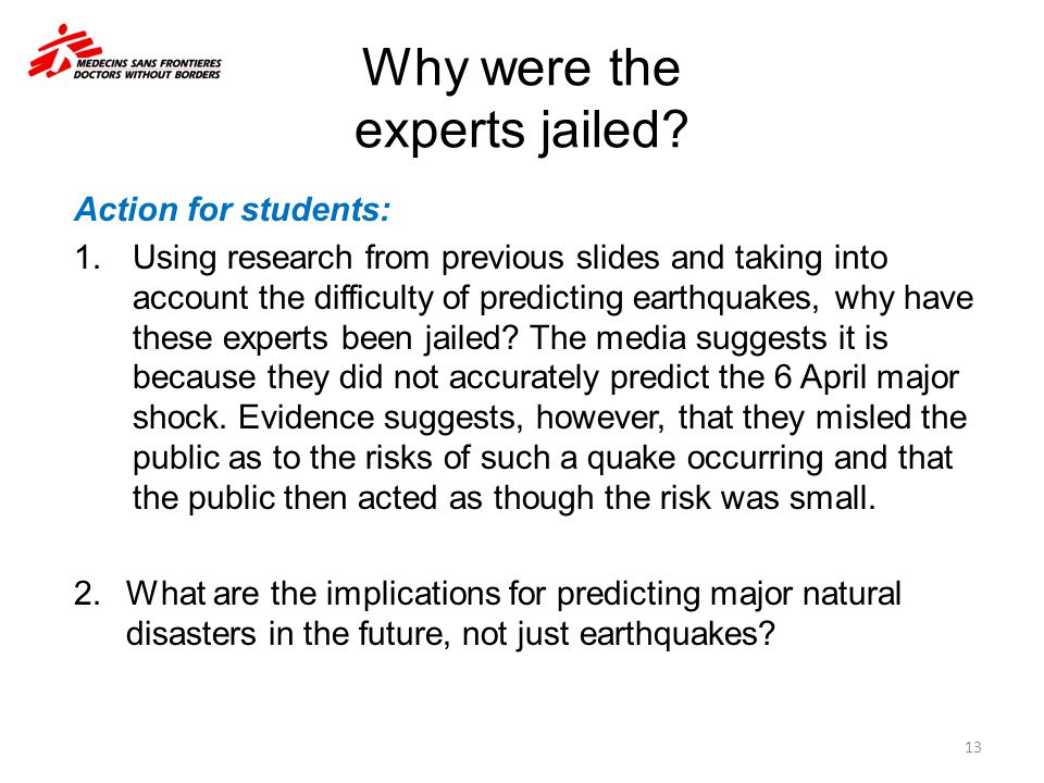 Why were the experts jailed