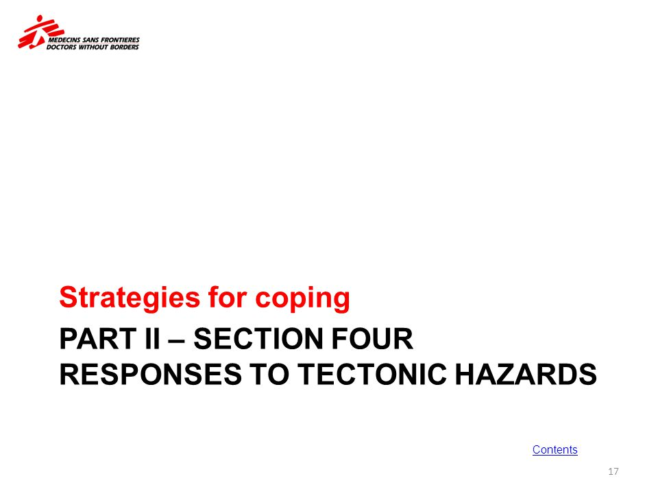 PART II – SECTION FOUR Responses to tectonic hazards