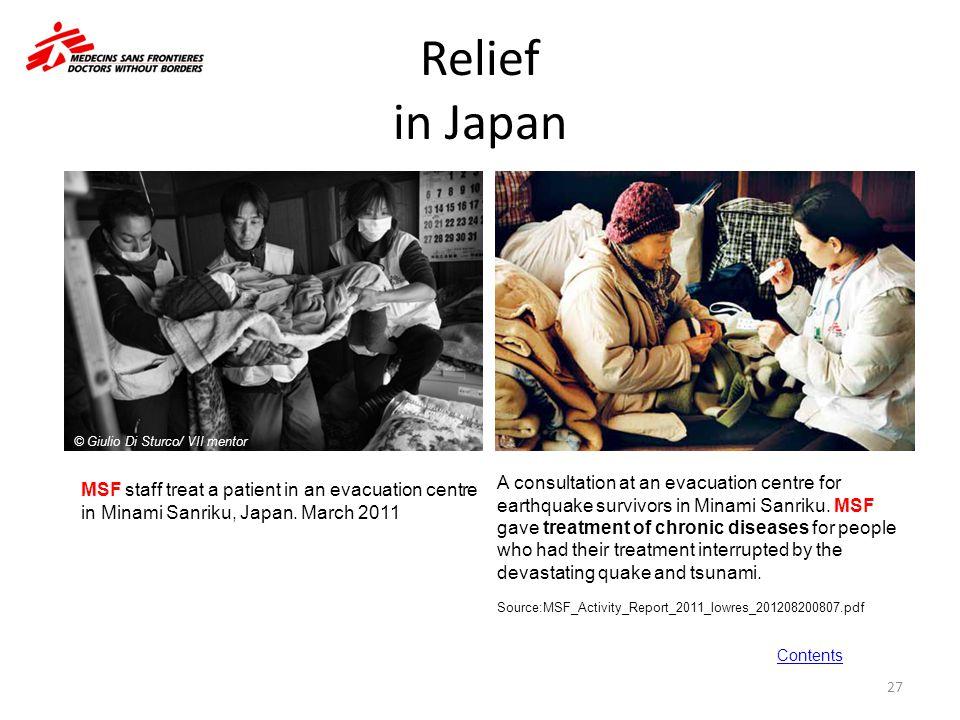 Relief in Japan © Giulio Di Sturco/ VII mentor.
