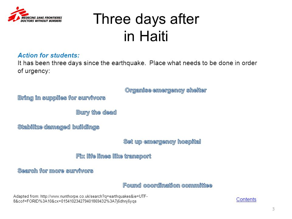 Three days after in Haiti