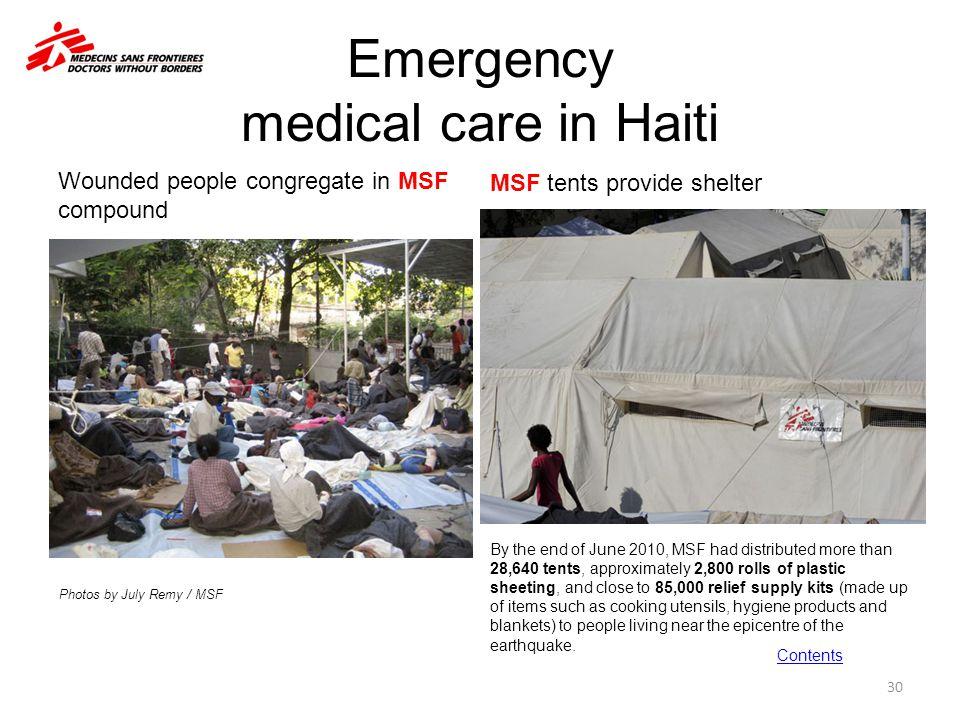 Emergency medical care in Haiti