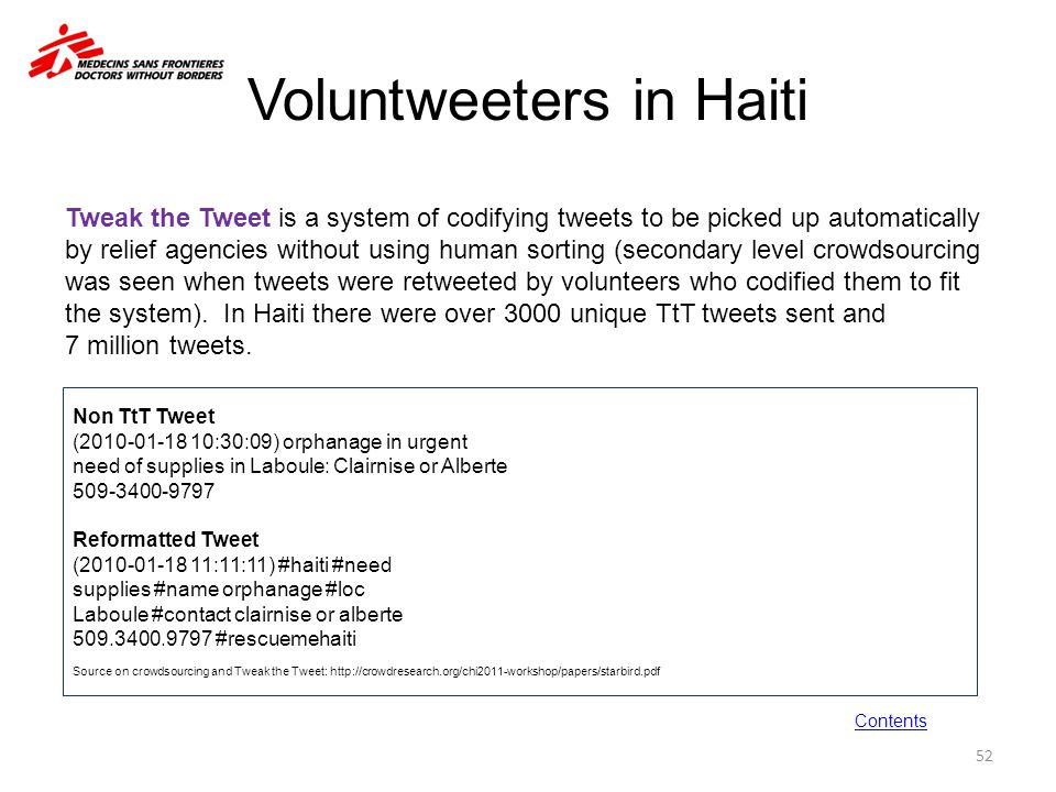 Voluntweeters in Haiti