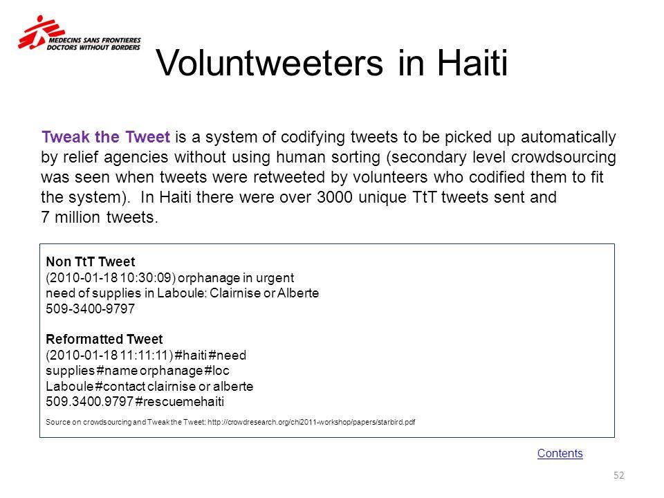 Voluntweeters in Haiti