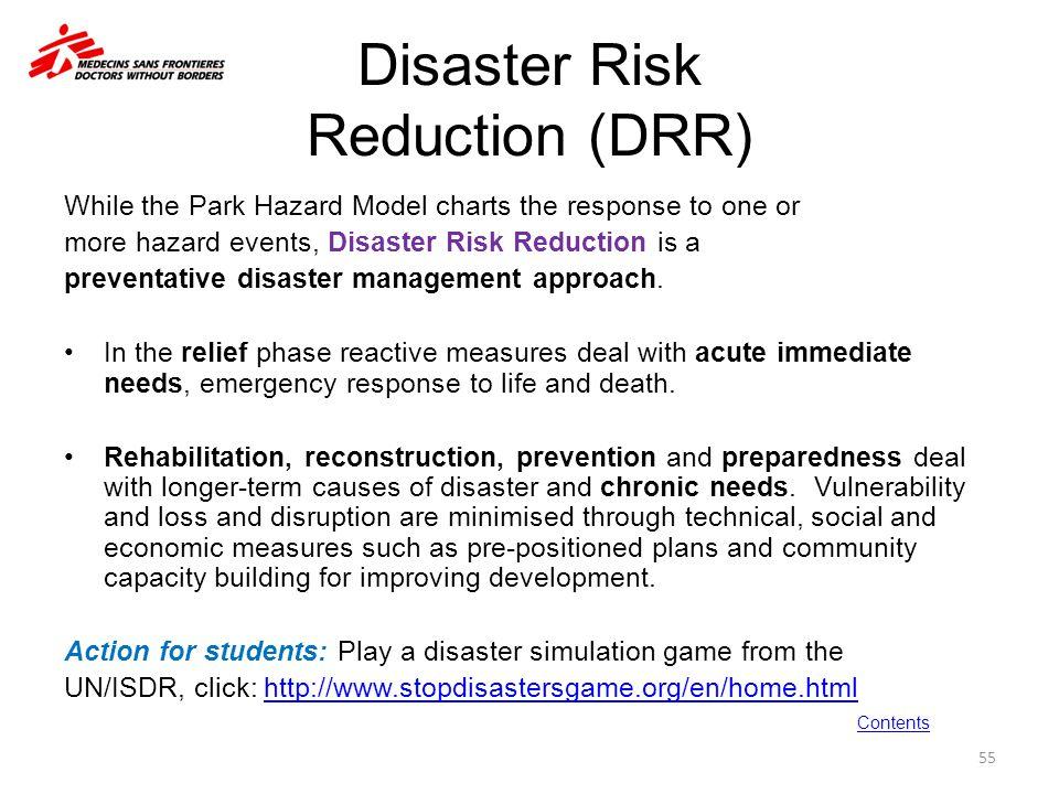 Disaster Risk Reduction (DRR)