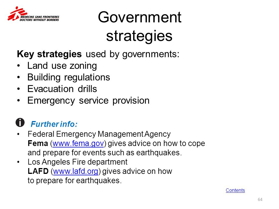 Government strategies