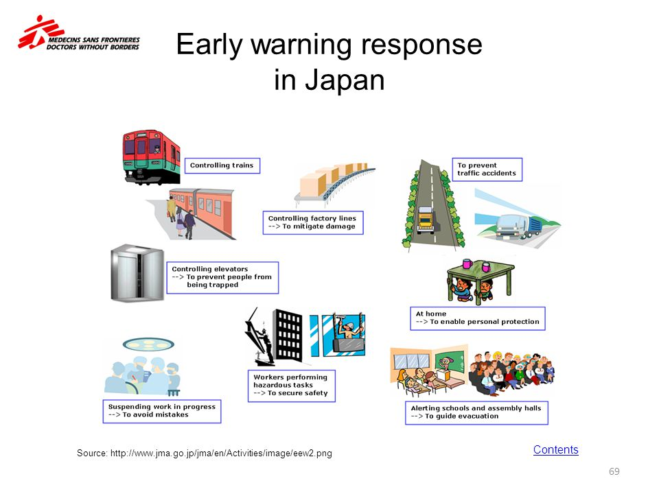 Early warning response in Japan
