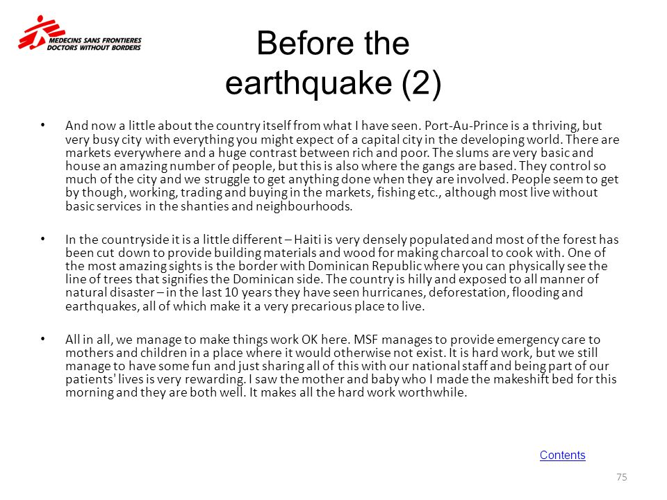 Before the earthquake (2)
