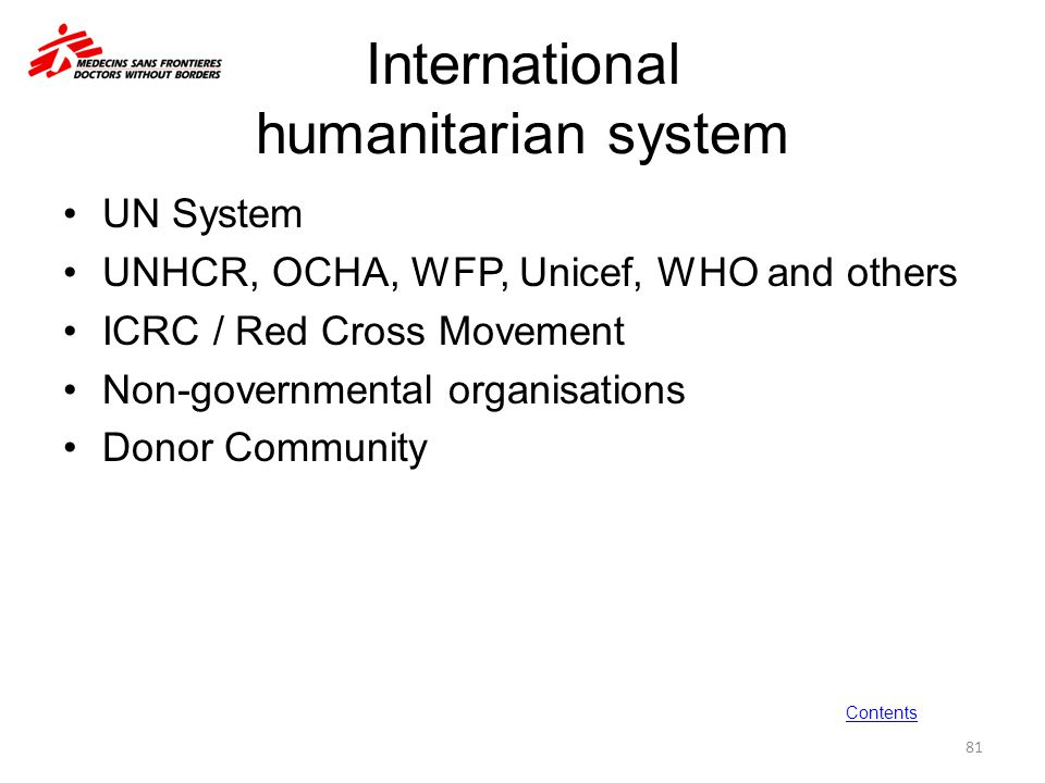 International humanitarian system