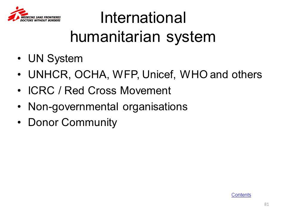 International humanitarian system
