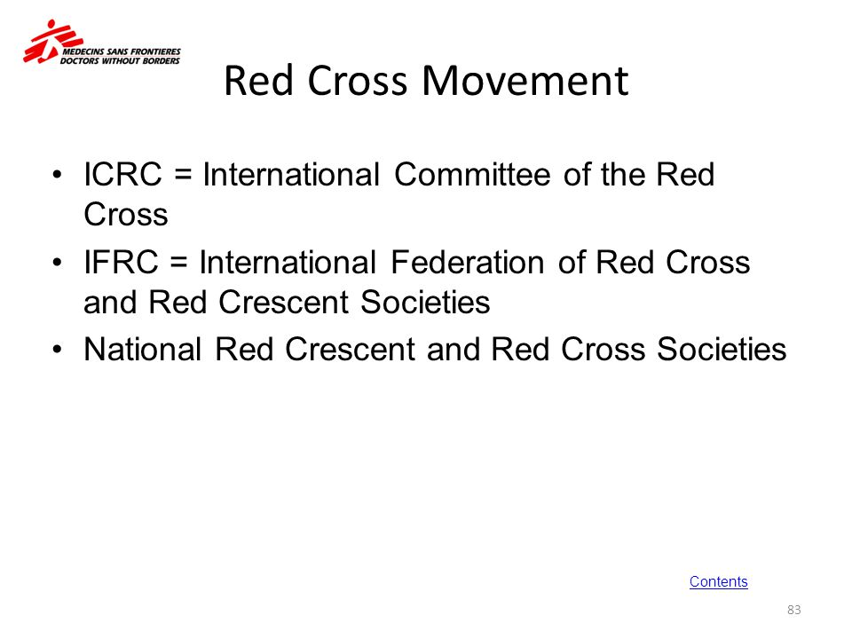 Red Cross Movement ICRC = International Committee of the Red Cross