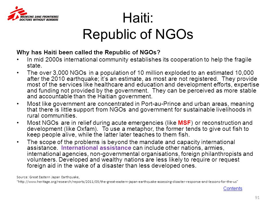 Haiti: Republic of NGOs