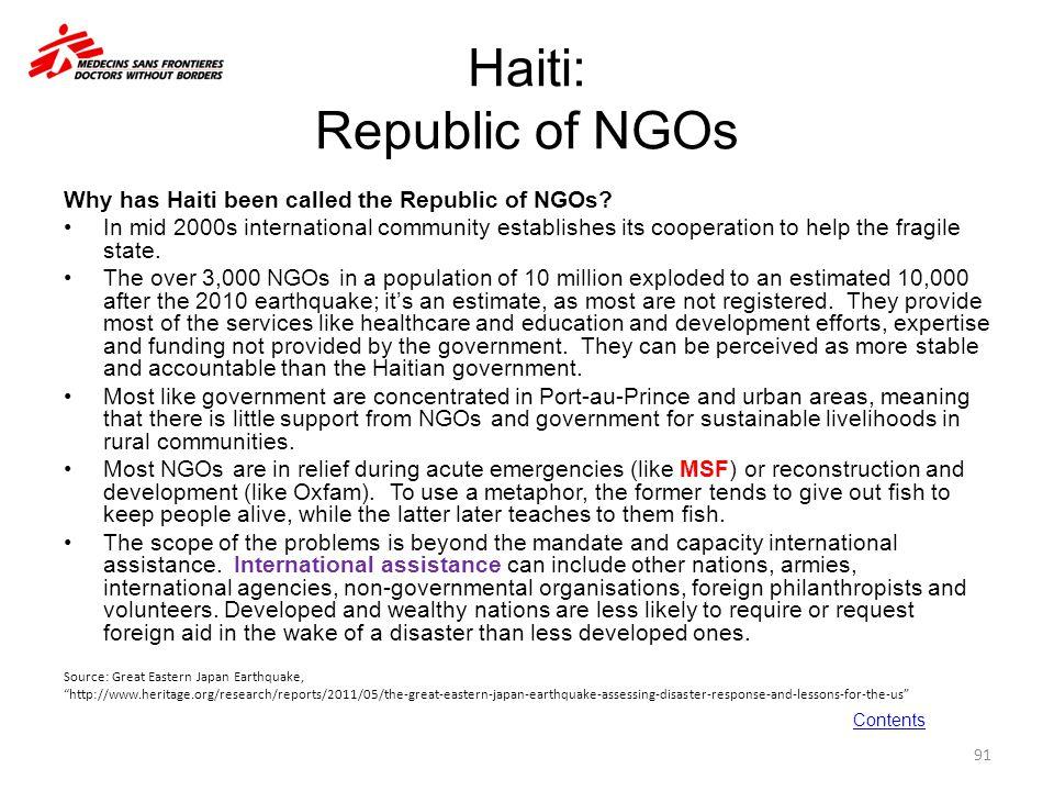Haiti: Republic of NGOs