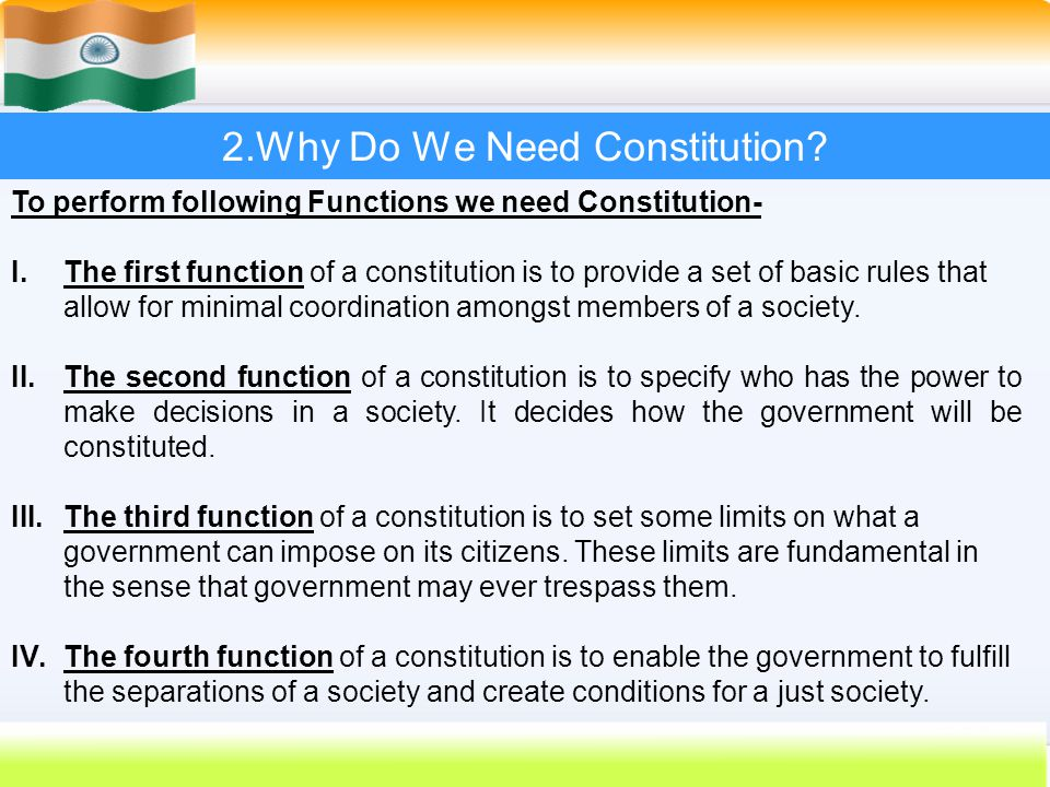 2.Why Do We Need Constitution