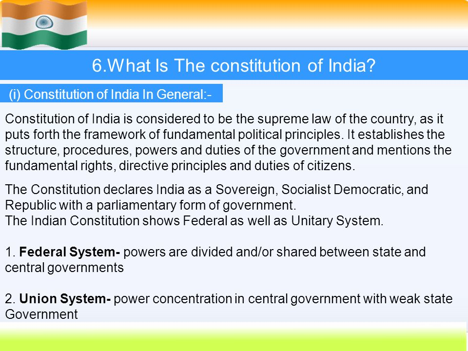 INDIAN CONSTITUTION. - ppt download