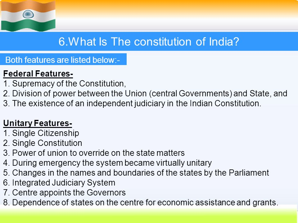 6.What Is The constitution of India