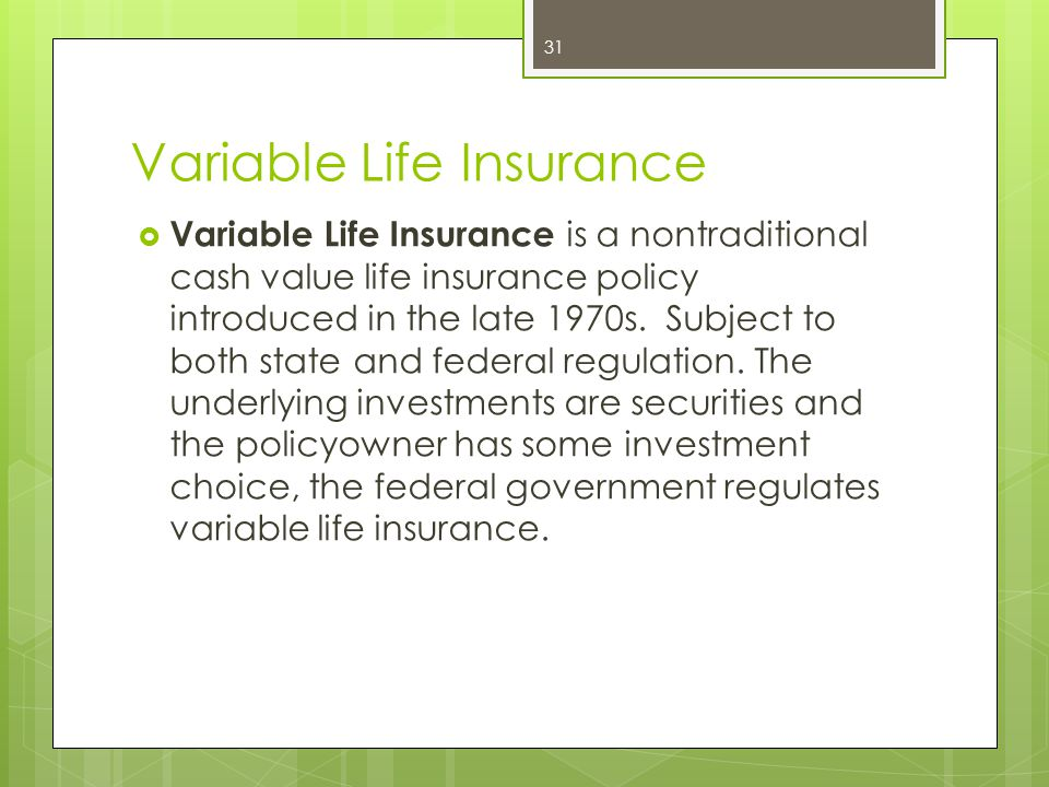 Variable Life Insurance