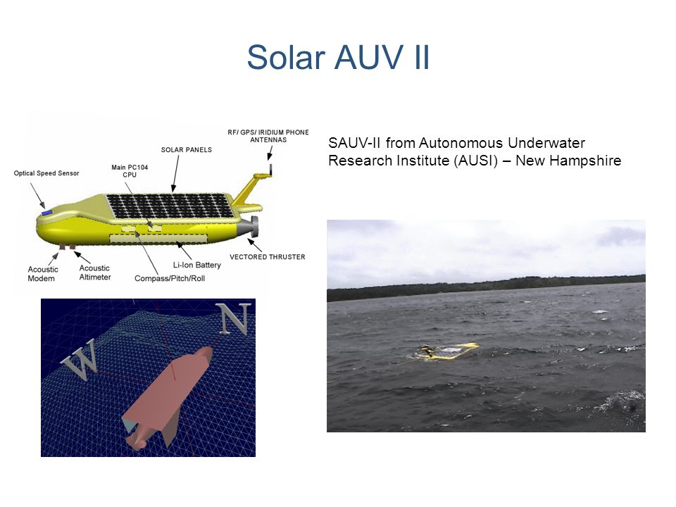 Solar AUV II SAUV-II from Autonomous Underwater Research Institute (AUSI) – New Hampshire
