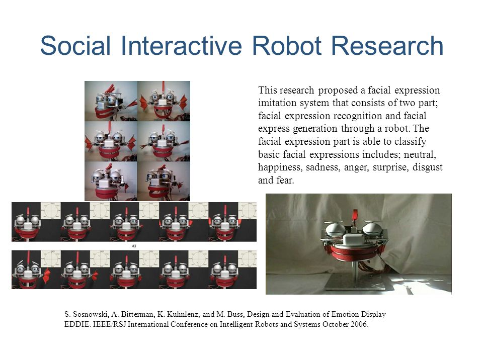 Social Interactive Robot Research