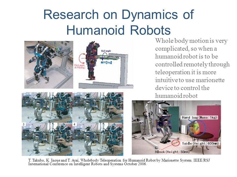 Research on Dynamics of Humanoid Robots