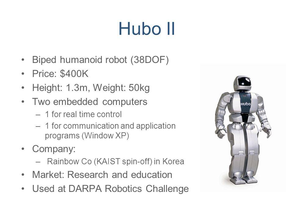 Hubo II Biped humanoid robot (38DOF) Price: $400K
