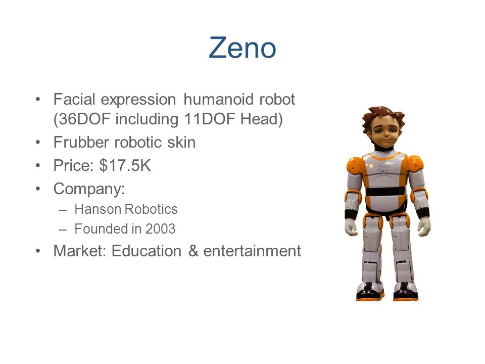 Zeno Facial expression humanoid robot (36DOF including 11DOF Head)