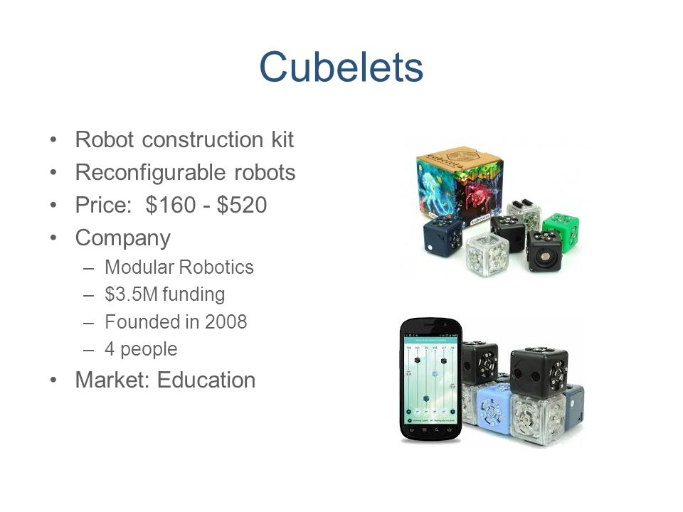 Cubelets Robot construction kit Reconfigurable robots
