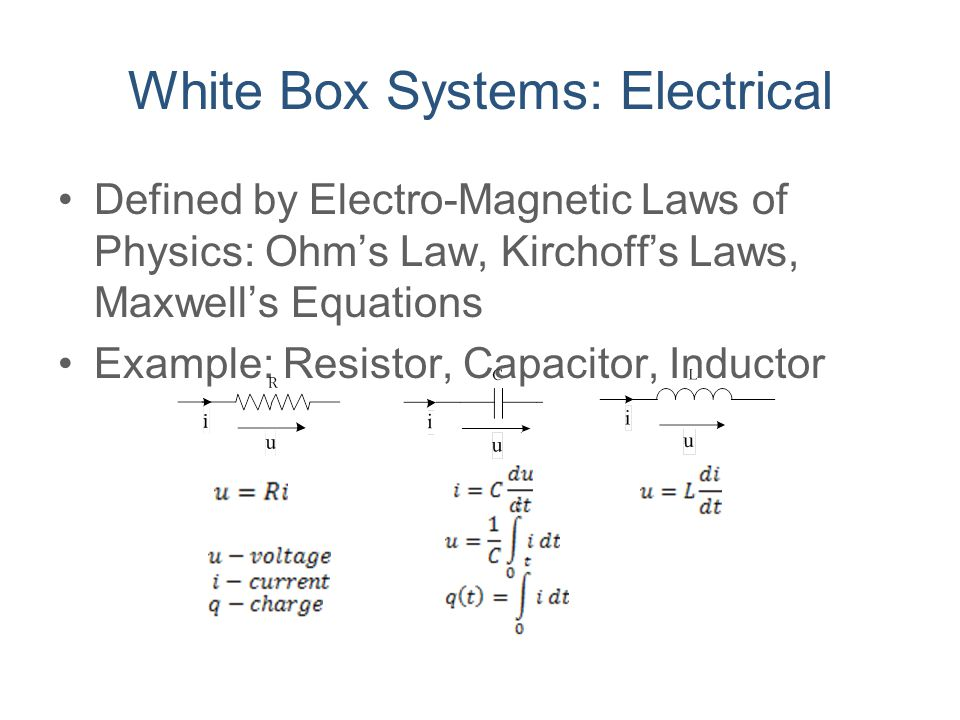 White Box Systems: Electrical