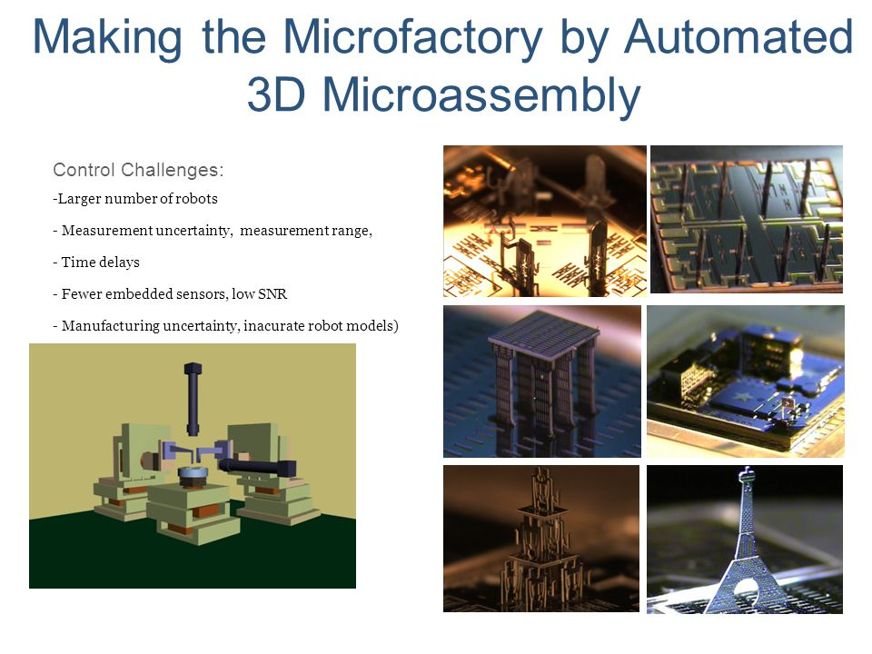 Making the Microfactory by Automated 3D Microassembly