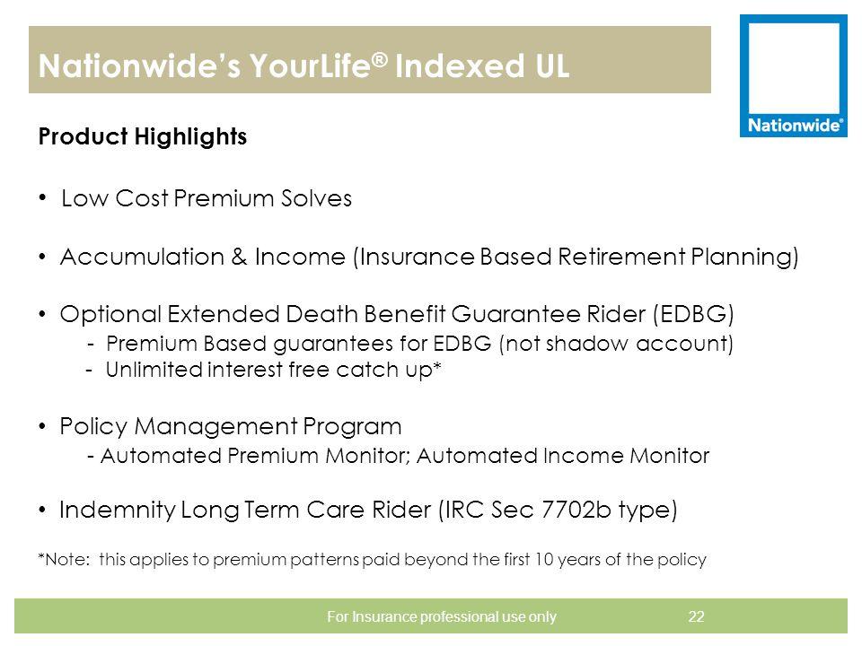 Nationwide's YourLife® Indexed UL