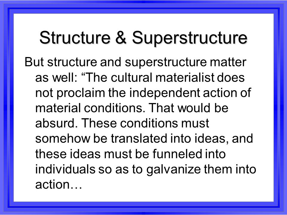 Structure & Superstructure