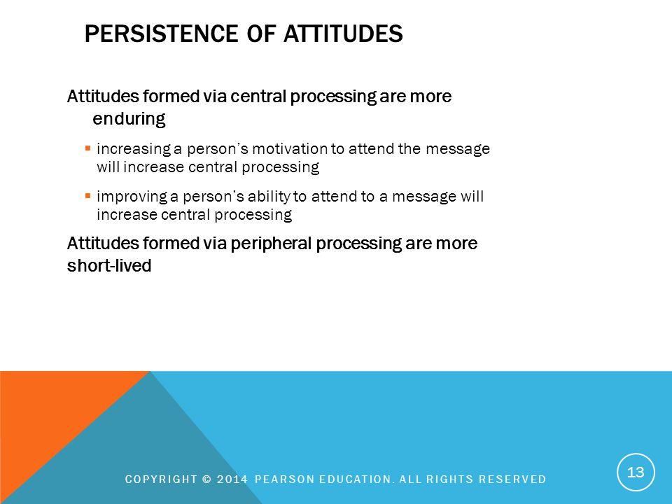 Persistence of attitudes