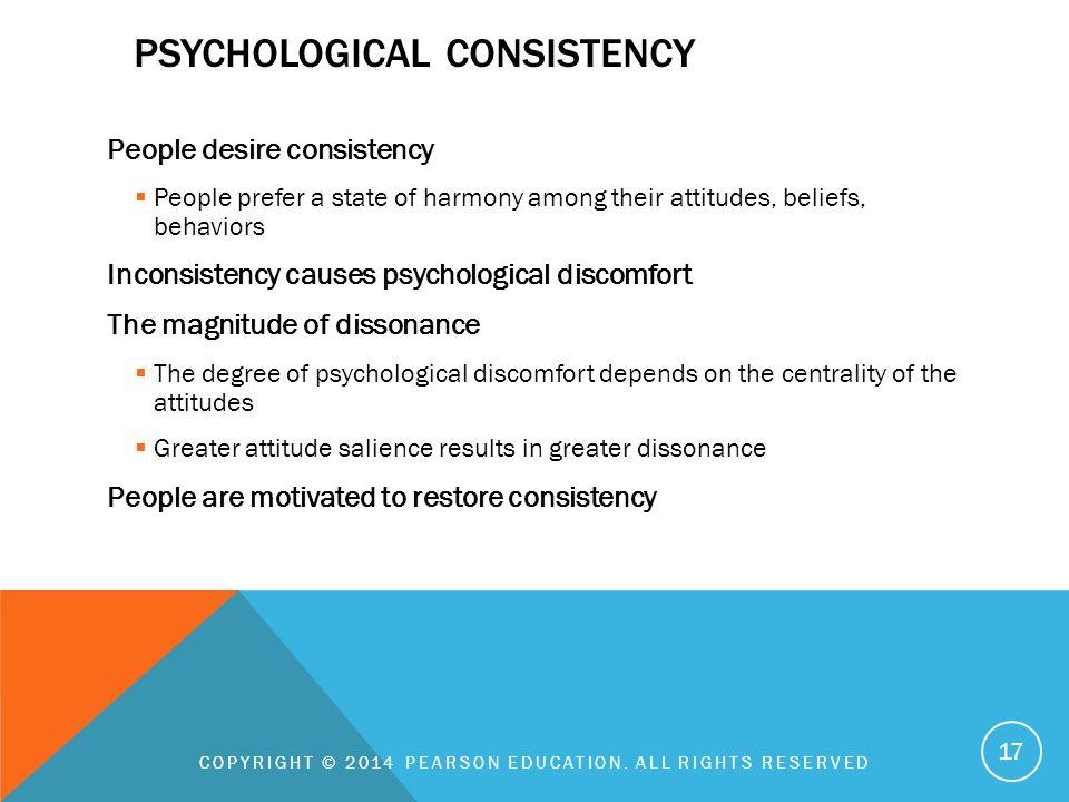 Psychological consistency