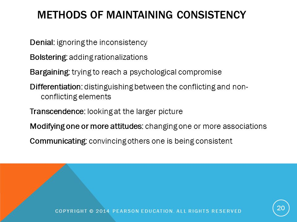 Methods of maintaining consistency