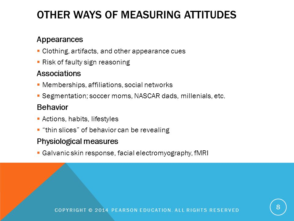 Other Ways of Measuring Attitudes