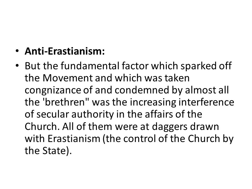 Anti-Erastianism: