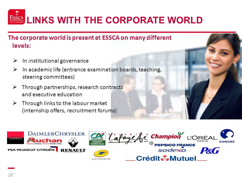 Links with the Corporate World