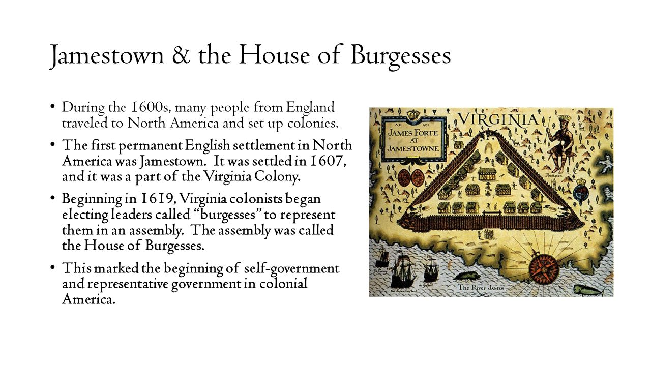 Jamestown & the House of Burgesses