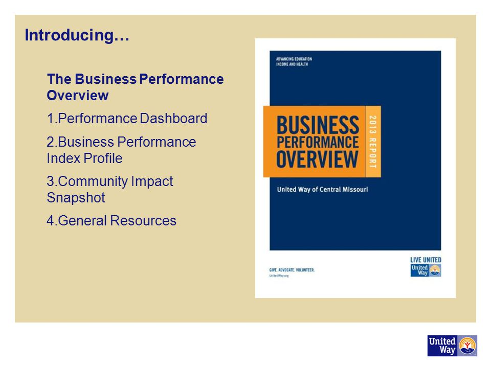 Introducing… The Business Performance Overview Performance Dashboard