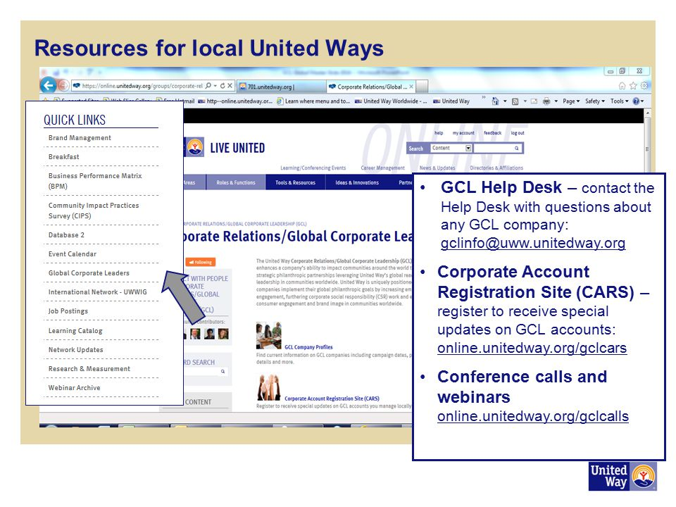 Resources for local United Ways