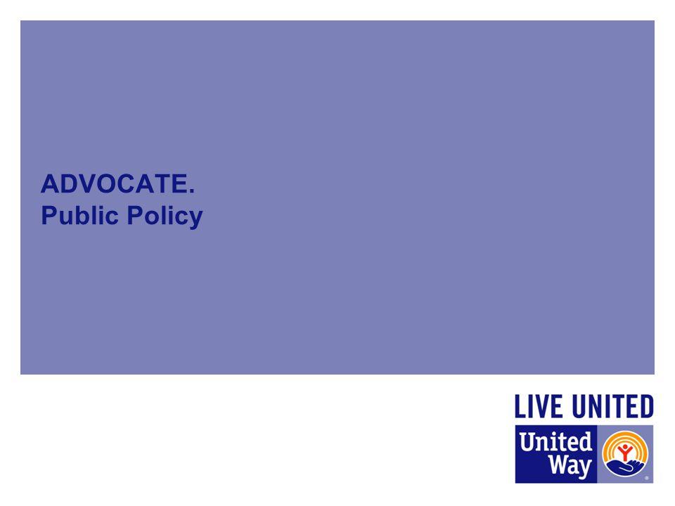 ADVOCATE. Public Policy