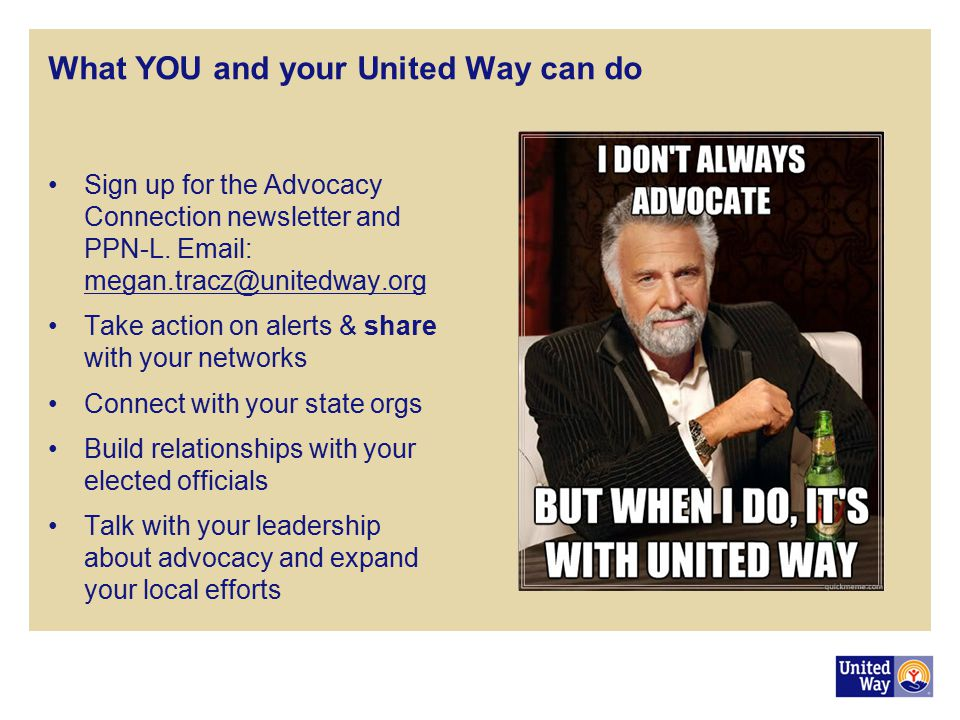 What YOU and your United Way can do